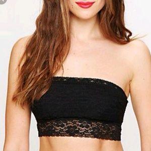 Free people black lace bandeau xs